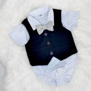 tamni plavi prsluk odijelo za bebe