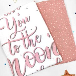 rozo bijelis et muslin pelena za novorođene bebe