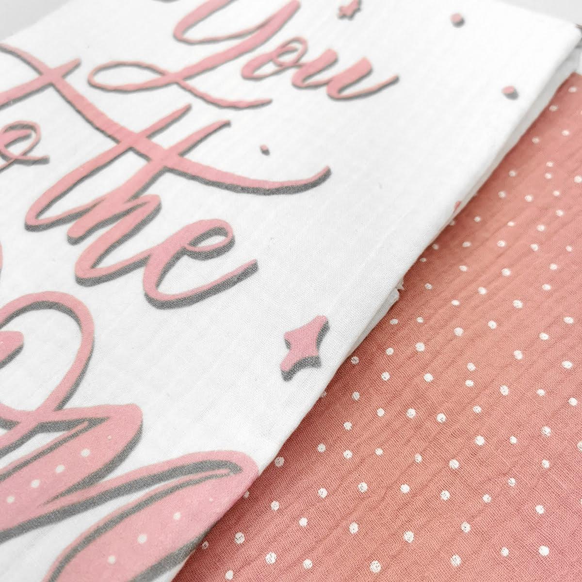 rozo bijeli set muslin pelena 2 u 1