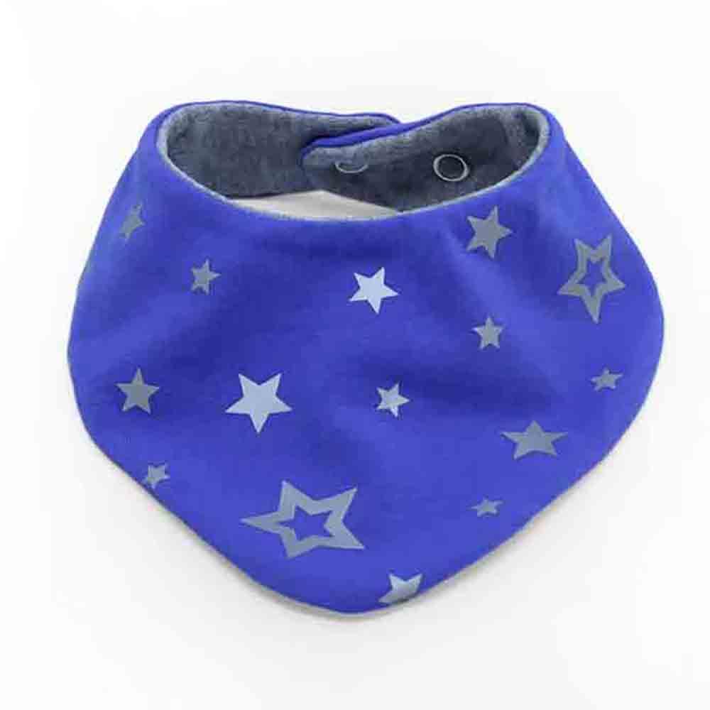 Plavi pamučni slinček marama za bebe