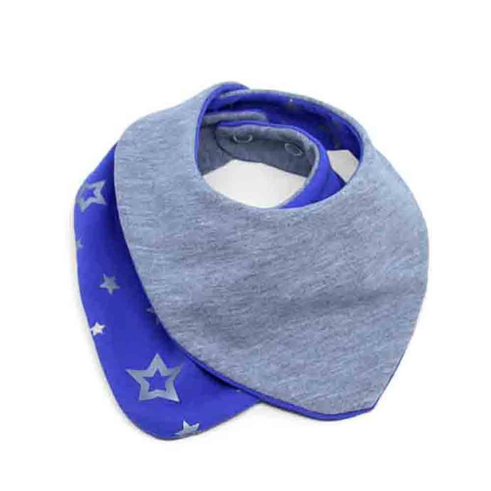 Sivo plavi slinček podbradak za bebe