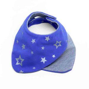 Plavi slinček sa zvijezdicama za bebe
