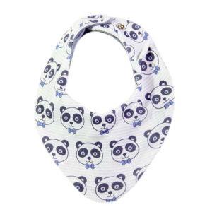 Plave pandice marama slinček za bebe
