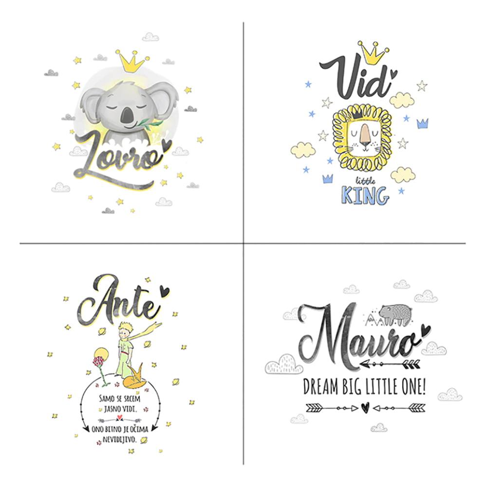Mnoštvo ilustracija za personaliziranu tetricu s imenom