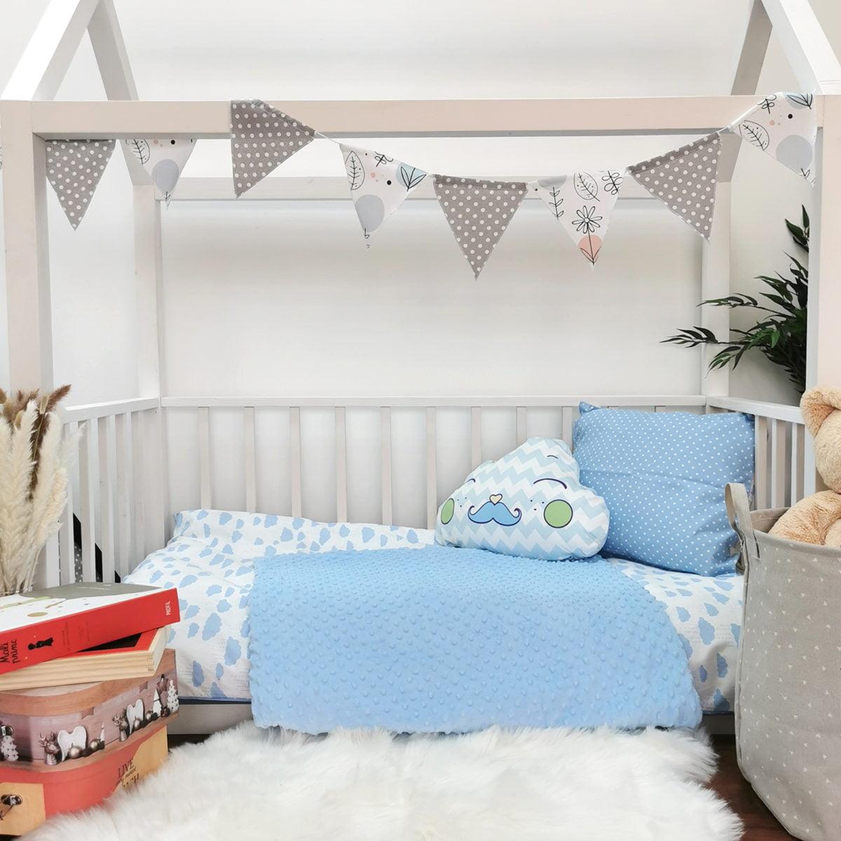 plavi oblaci posteljina za djecu