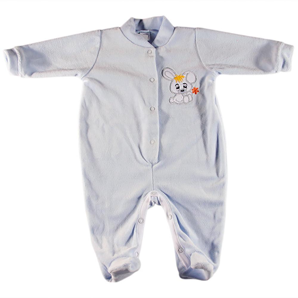 Plavi plišani kombinezon za novorođenčad