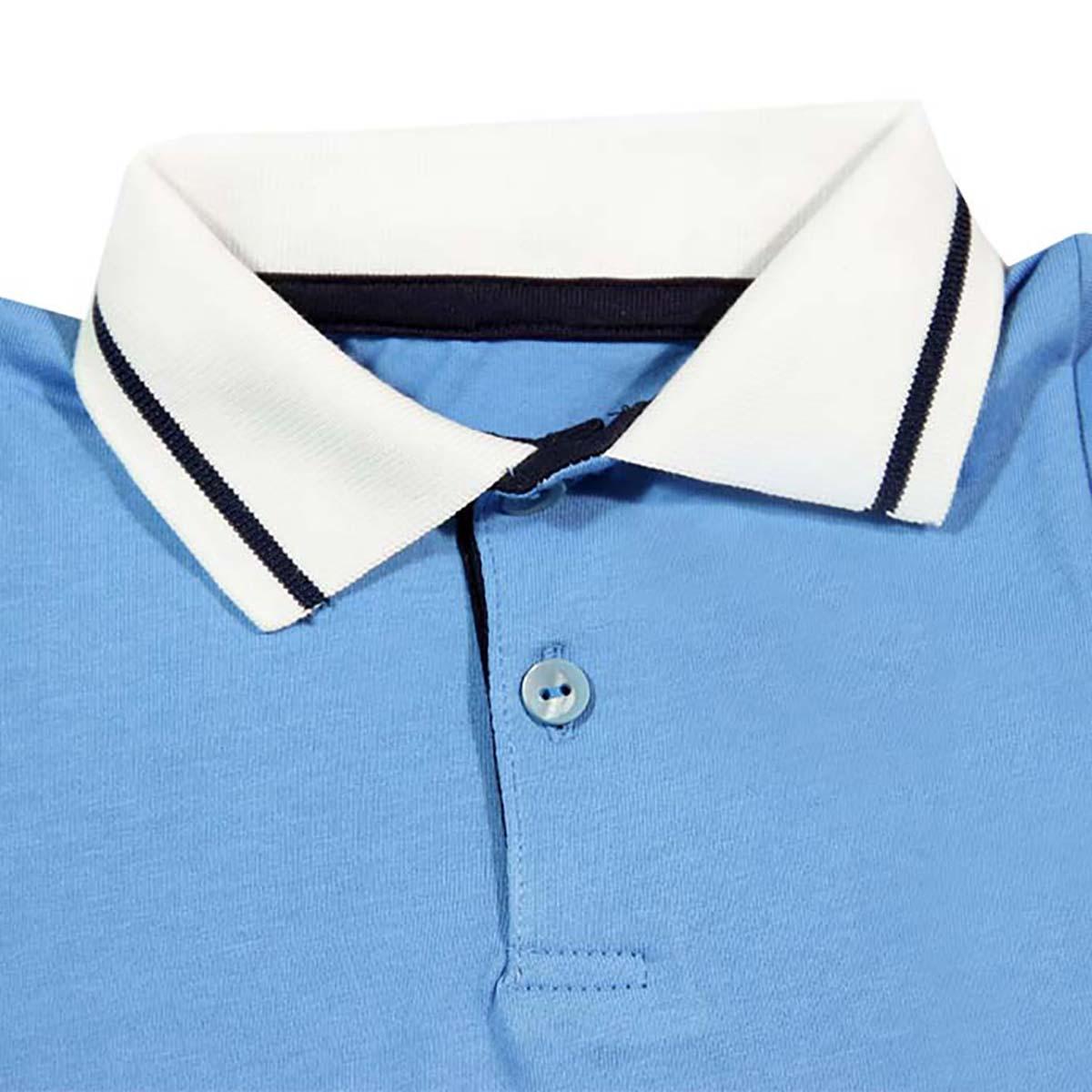plavo bijela majica s kragnom za bebe
