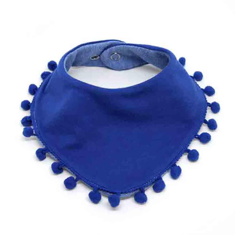 Plavi pom pom slinček za bebe
