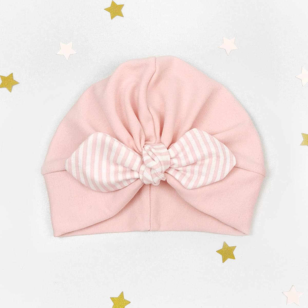 mašna rozi topli zimski turban za bebe i djevojčice