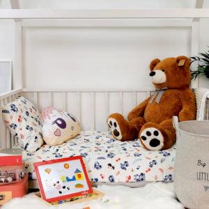 dječja unisex soba s posteljinom