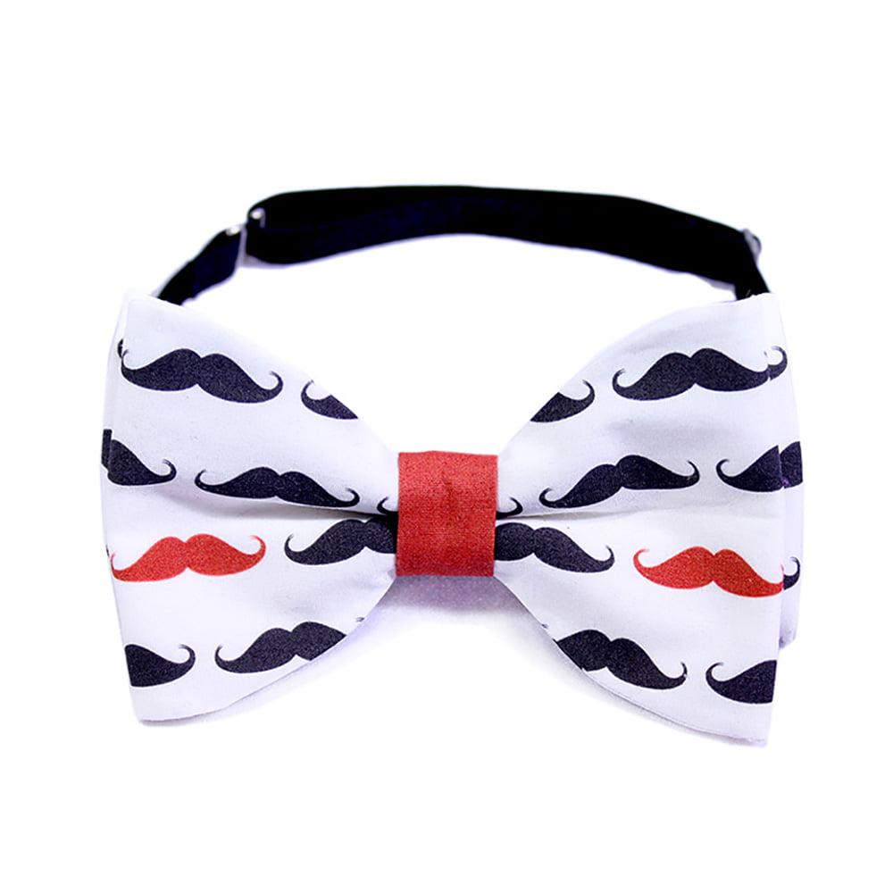 red mustache leptir mašna s printom