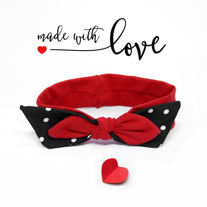Rockabilly crvena retro trakica love