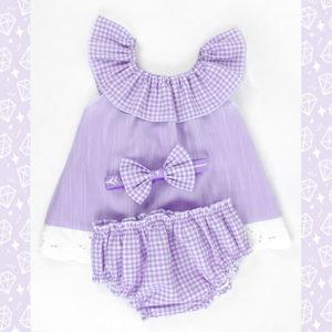 Romper lila set za novorođenčad i bebe