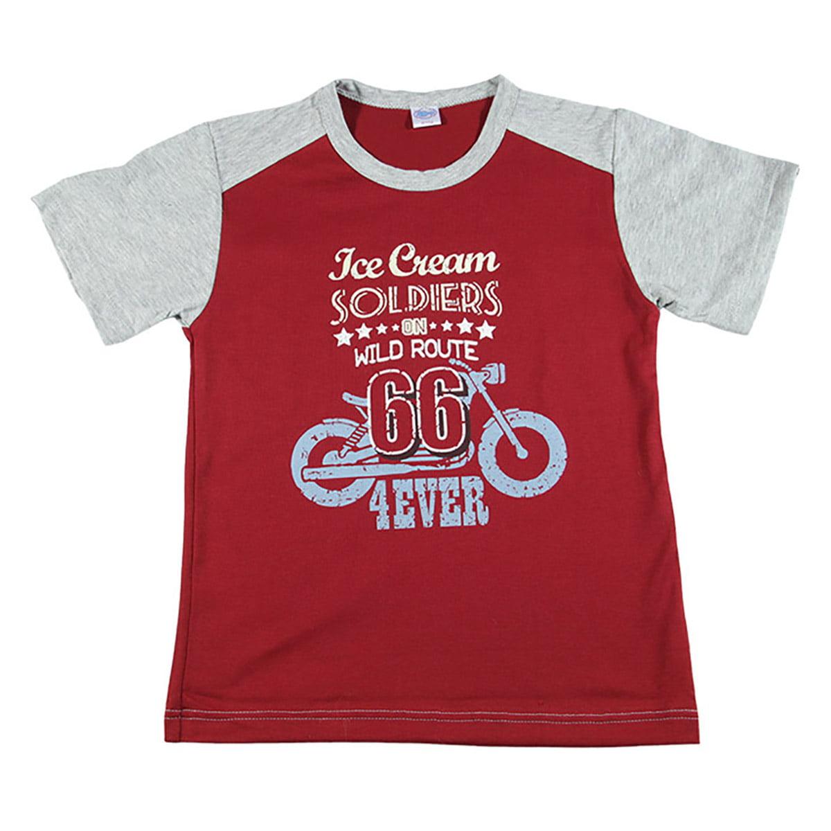 Dječja crvena majica Route 66