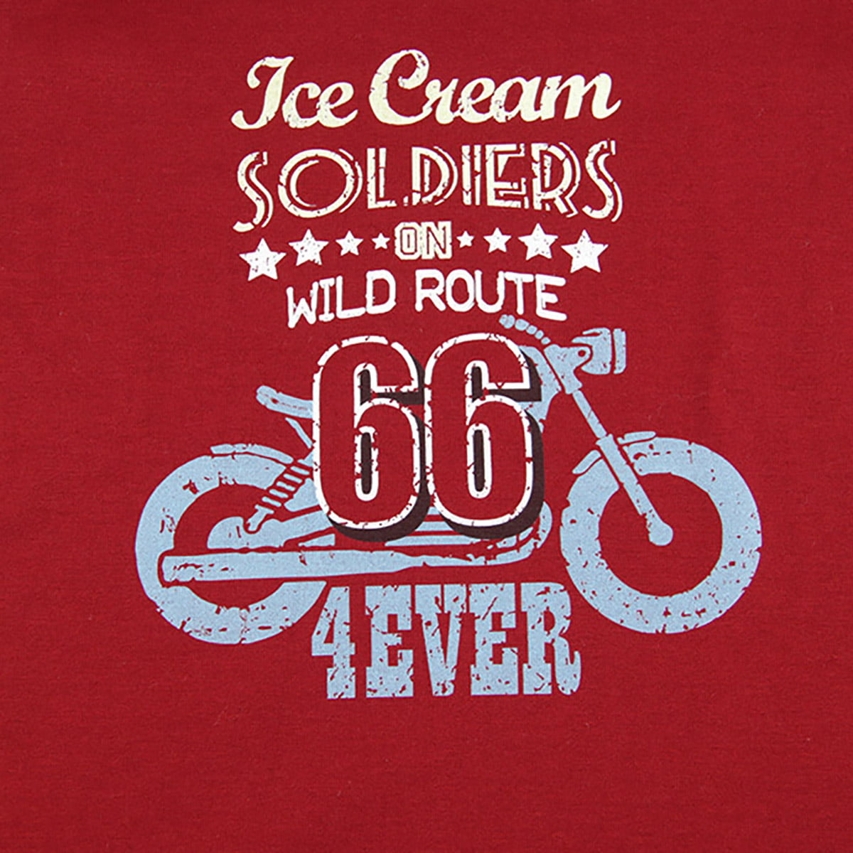 Route 66 print na majici crvenoj