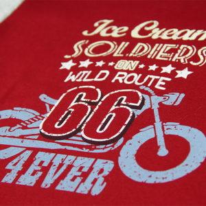 Route 66 print na crvenoj majici