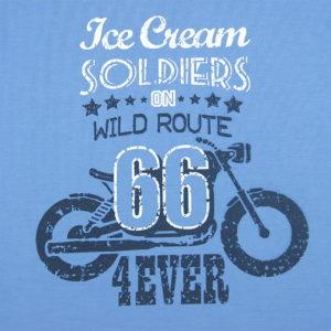 Route 66 print dječje majice plave