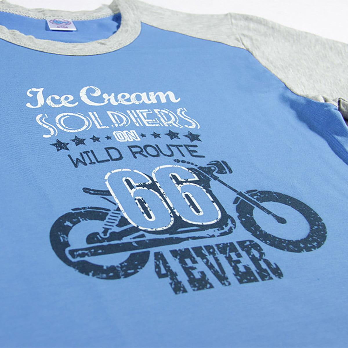 Route 66 print na plavoj majici