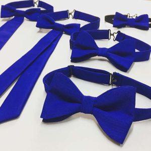 obiteljski set leptir mašna u royal plavoj boji