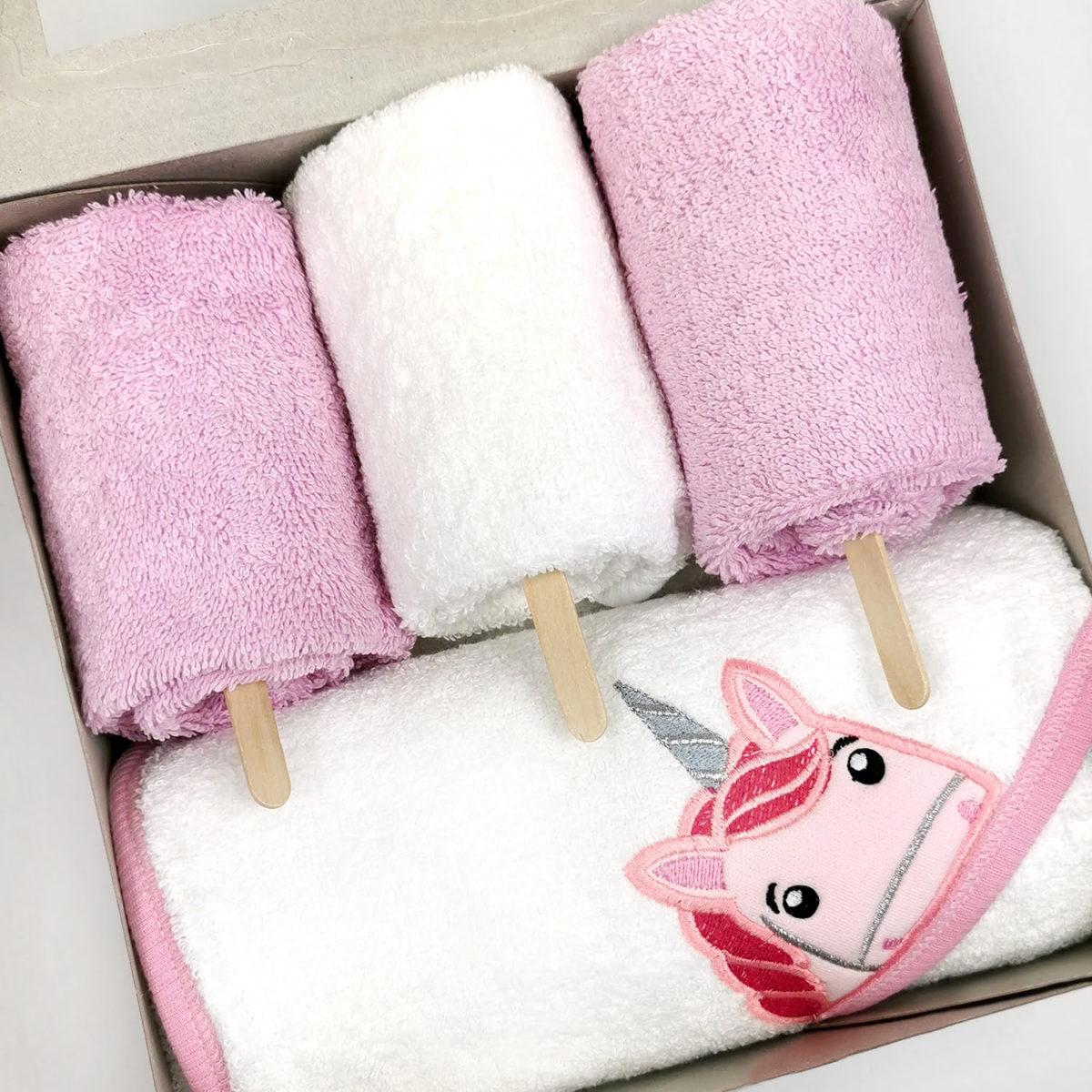 veliki ručnik ogrtač i 3 mala ručnika u setu