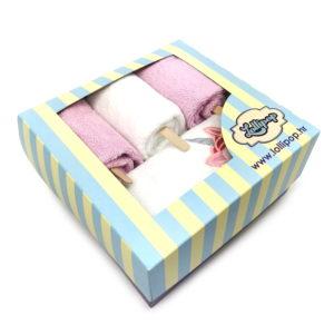 bijelo rozi poklon set za bebe