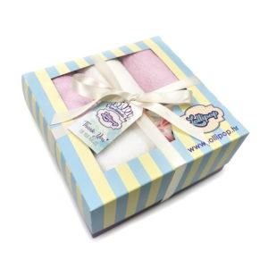 veliki rozo bijeli poklon set za bebe