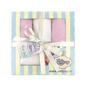 rozo bijeli poklon set s ručnicima