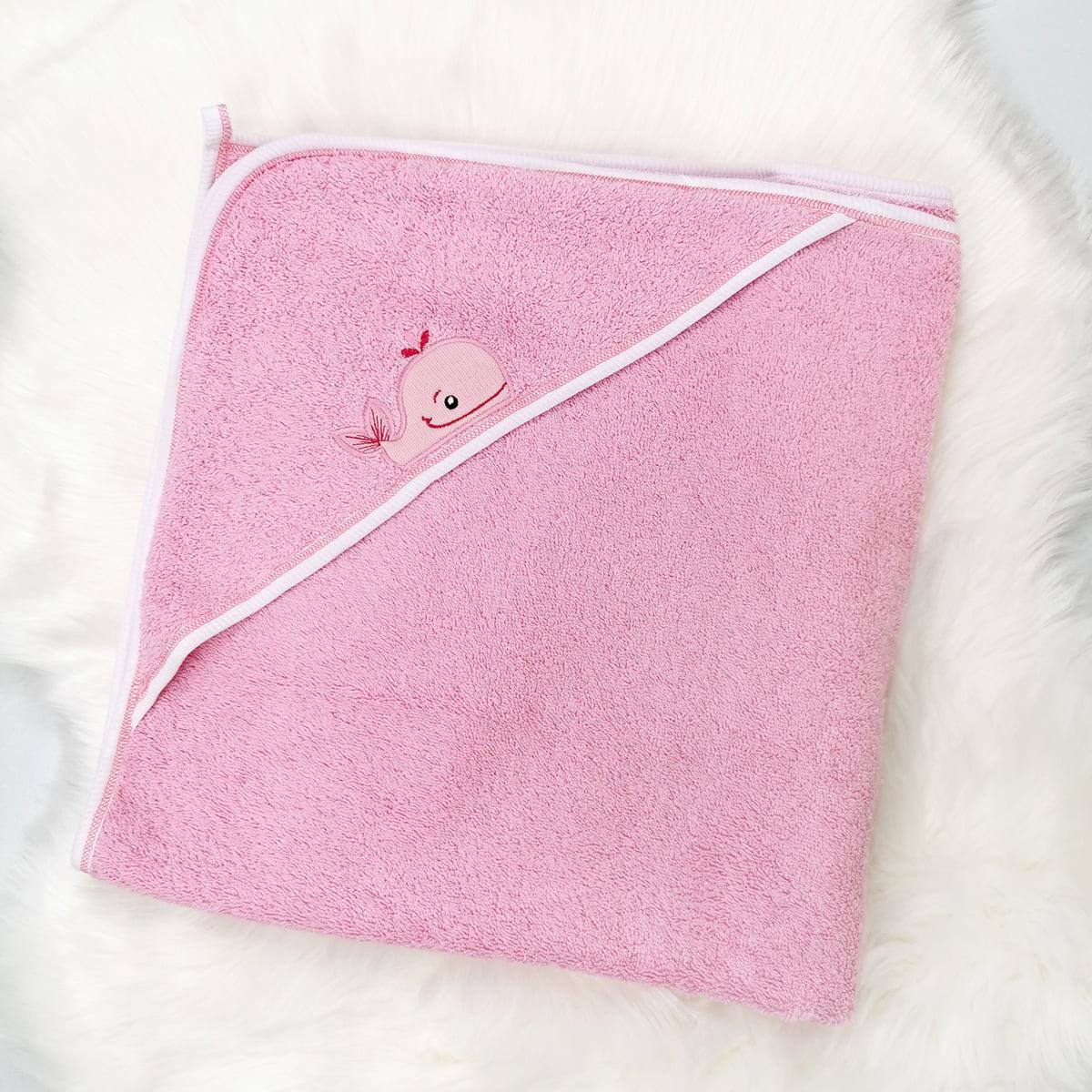 rozi ručnik ogrtač za bebe