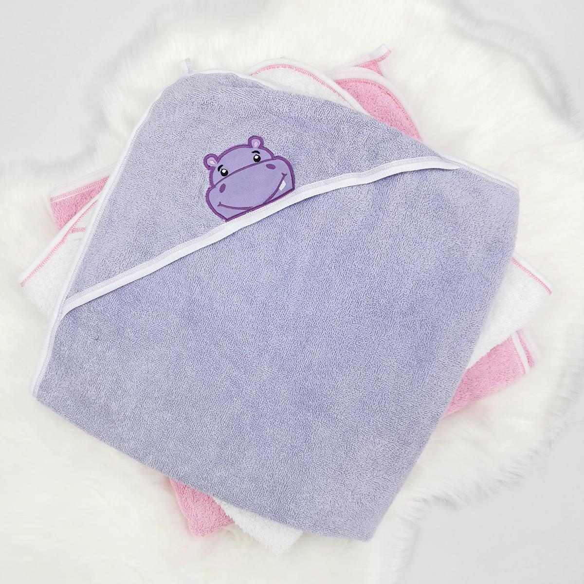 ljubičasti ručnik ogrtač za bebe