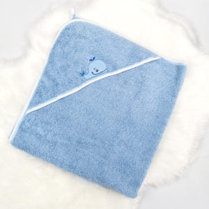 plavo ručnik ogrtač za bebe