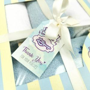 plavi poklon set za male bebe ručnici