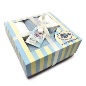plavi poklon set s ručnicima za bebe