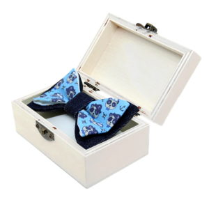 pirati leptir mašna s printom u dvrnoj kutiji