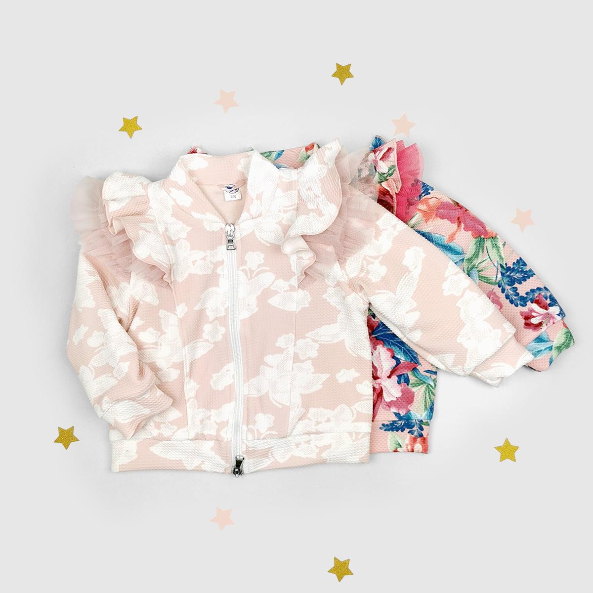 dvije boje šara jaknica za bebe i djevojčice