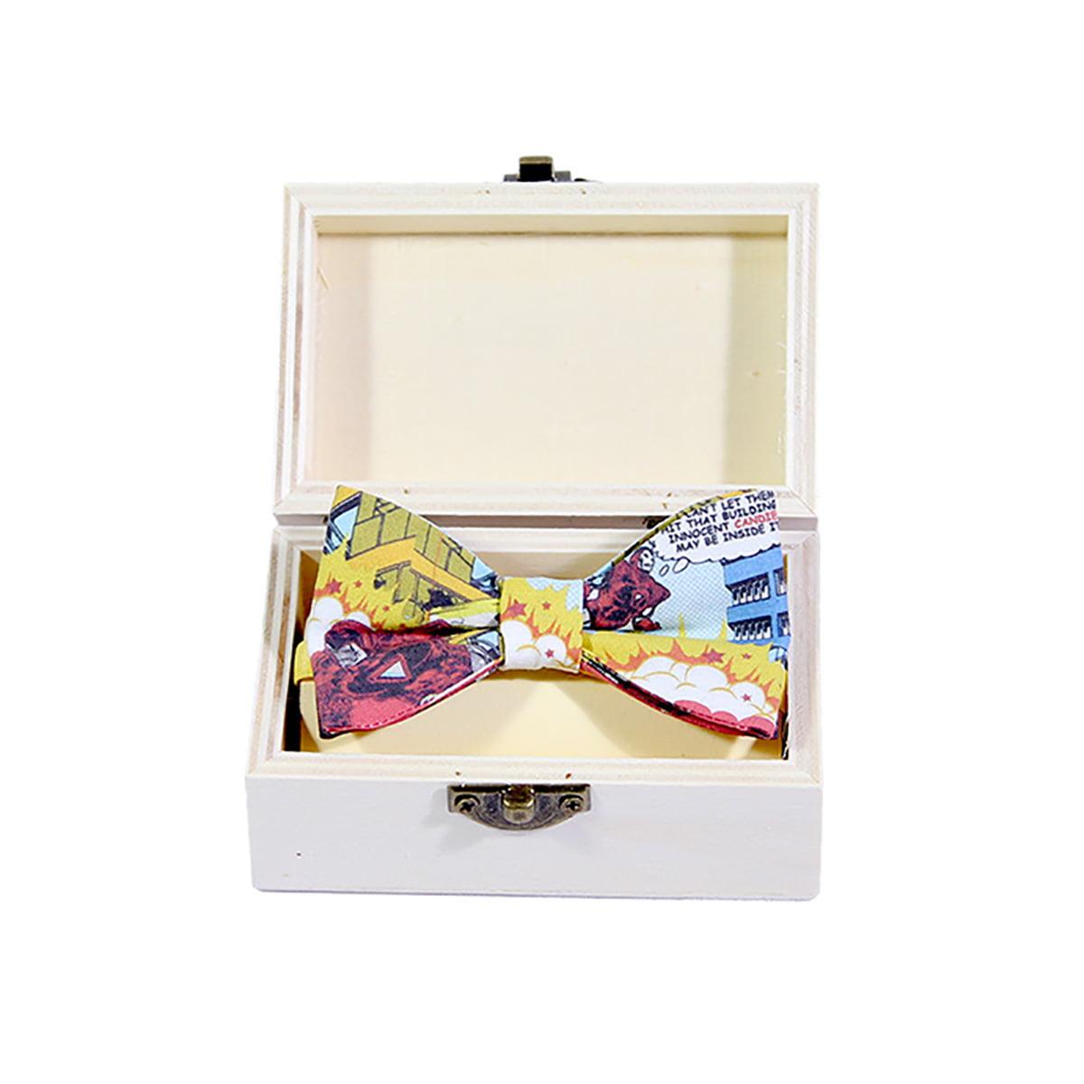 Saving candies leptir mašna u drvenoj kutiji