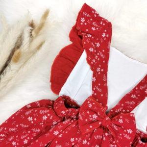 podesive naramenice crvene bodi haljine