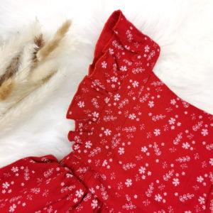 detalj crvene shabby chic bodi haljine