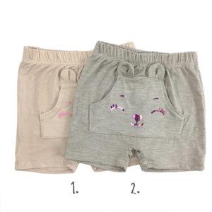 bež kratke hlače za bebe djevojčice s printom