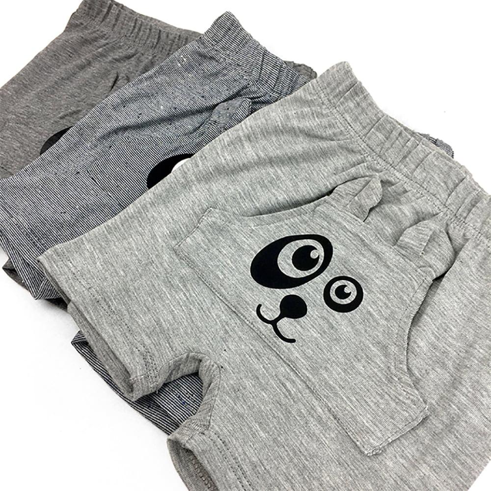 Pamučne sive kratke hlače za bebe dječake