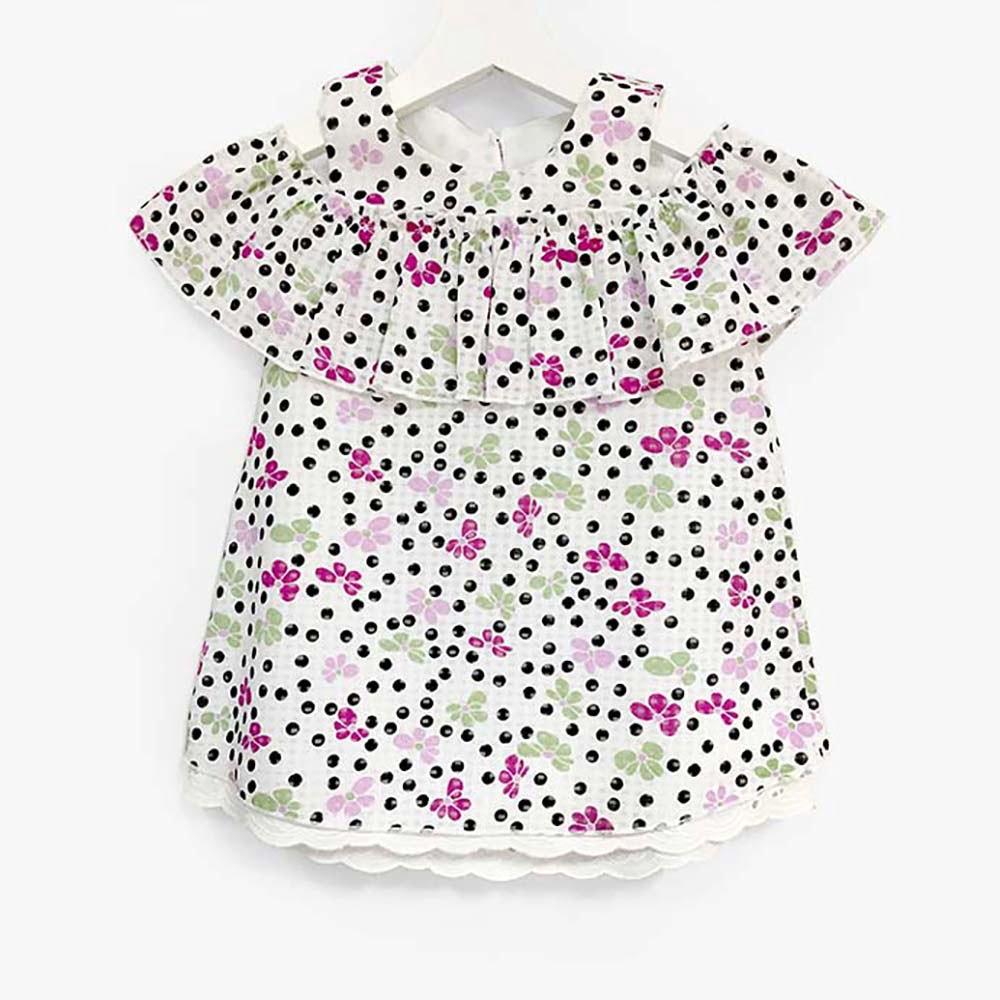 Cvjetna ljetna haljina za djevojčice