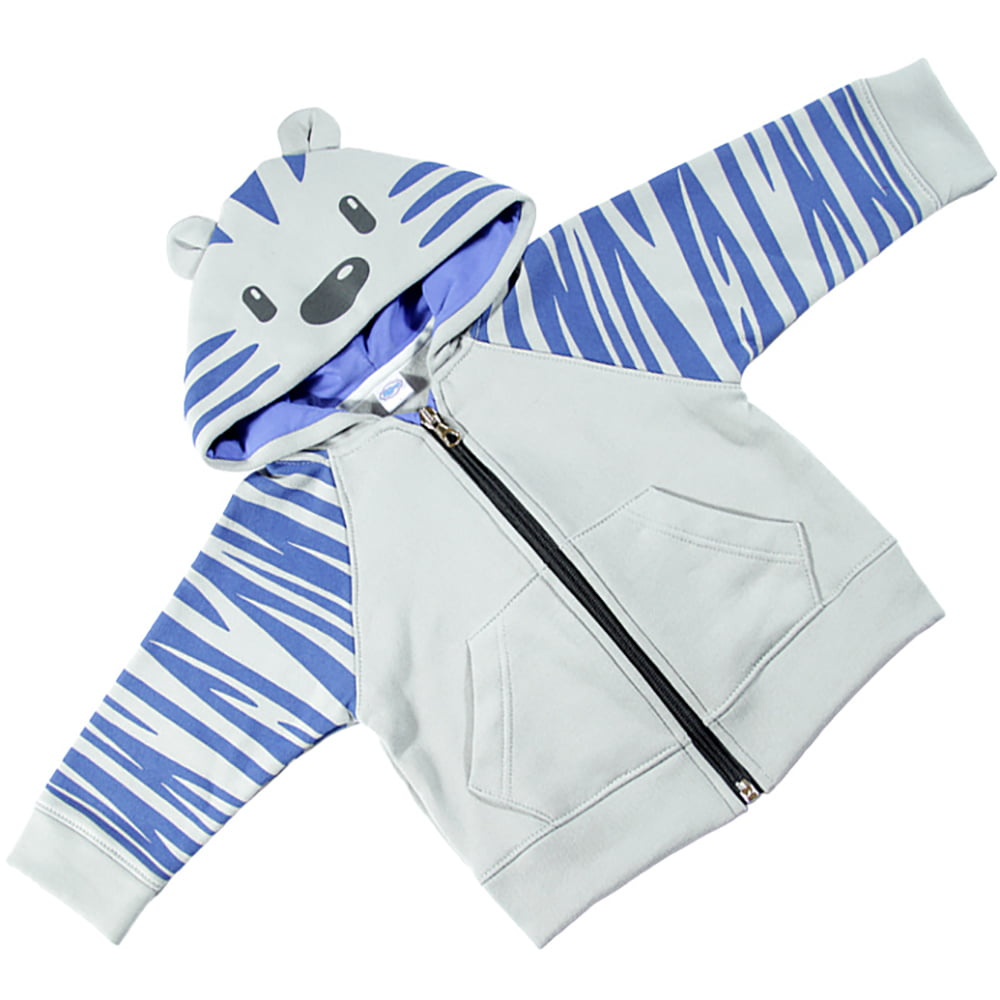 tigrić hoodie sivo plavi
