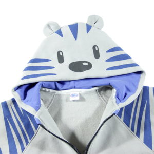 tigrić kapuljača sivo plava