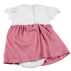 praktična bodi haljina sivo bijela