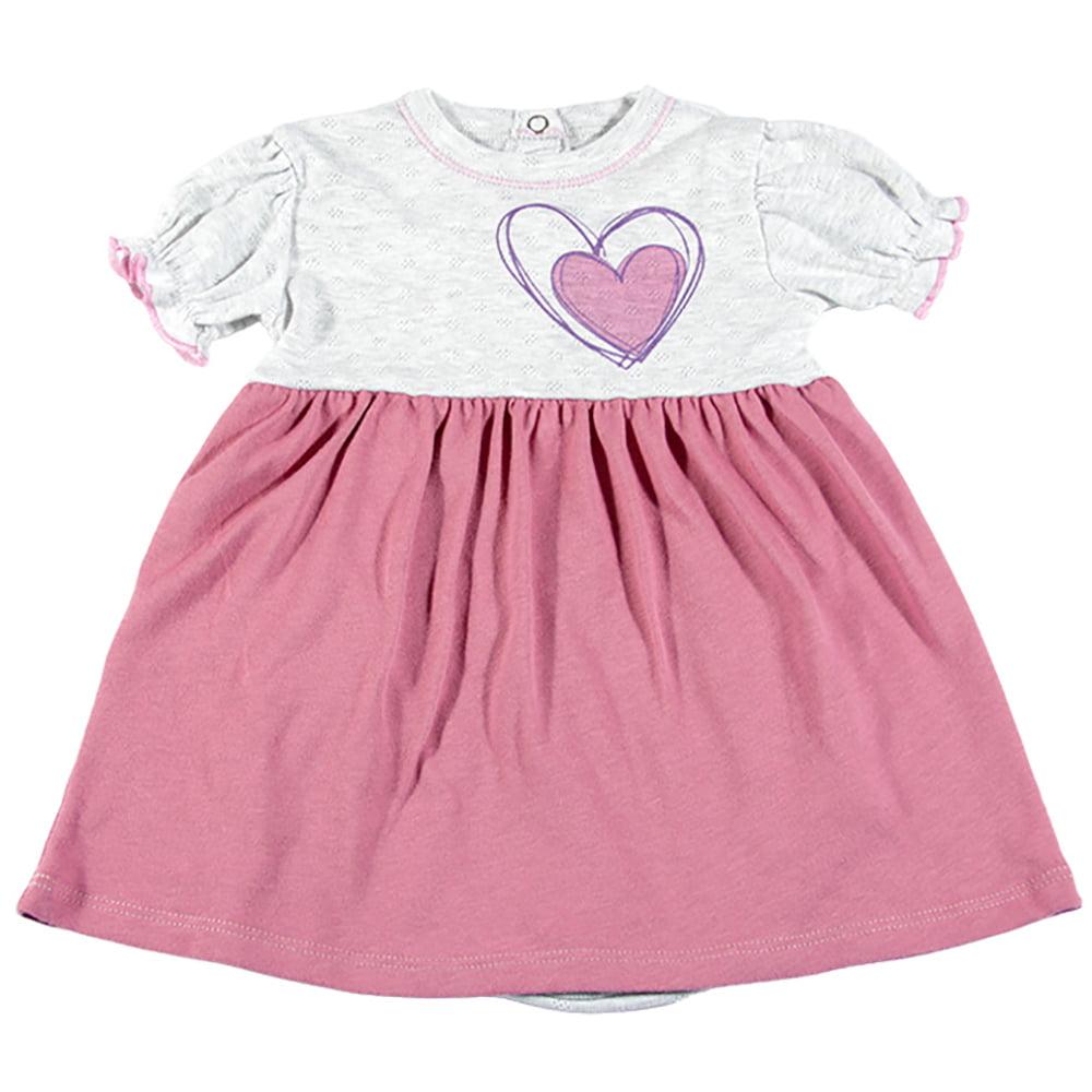 Bodi haljina rozo bijela kratki rukav