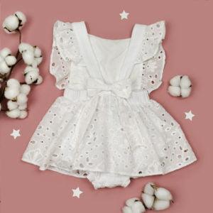 bijela bodi haljina šlinga