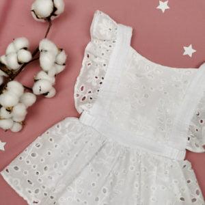 šlingani pamuk bijele bodi haljine