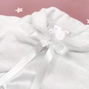 topla snježno bijela bundica za djevojčice