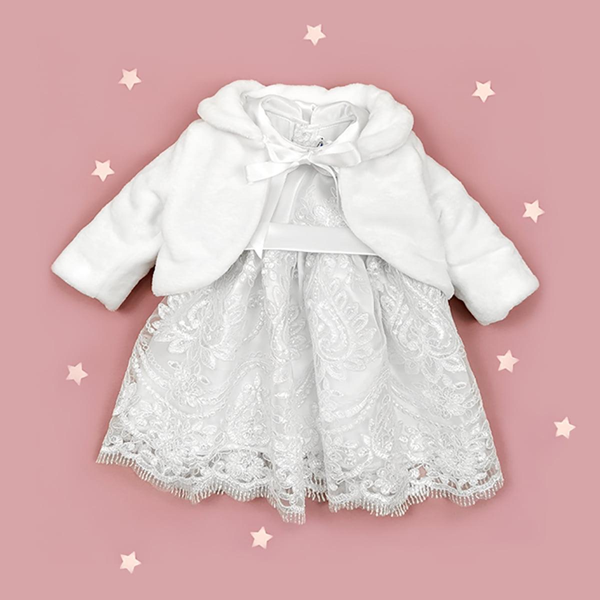 snow white lace haljina i bundica