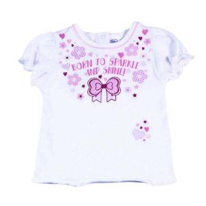 born to sparkle majica za novorođene bebe