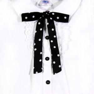 crna točkasta trakica na bluzi